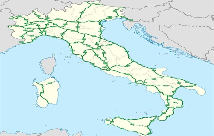 Italia Cartina Autostradale.Elettrodo Fiore Sanguinare Pianta Autostrade Italia Amazon Monzacorre It