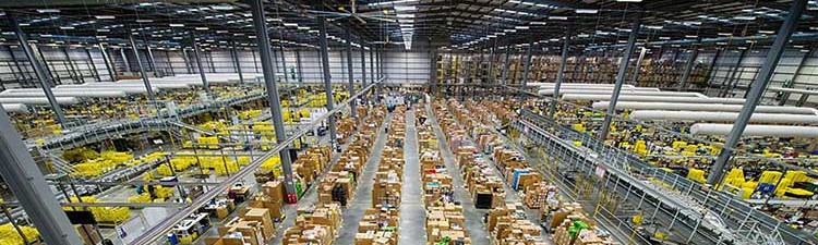 Amazon: logistica di magazzino