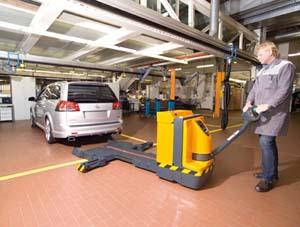 nuovo transpallet per movimentazione veloce automobili